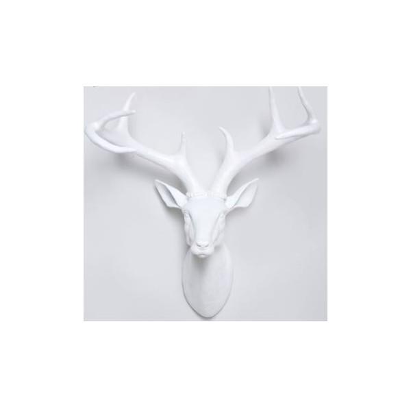 Kunststof jachttrofee hert wit 45 cm for Gewei kunststof